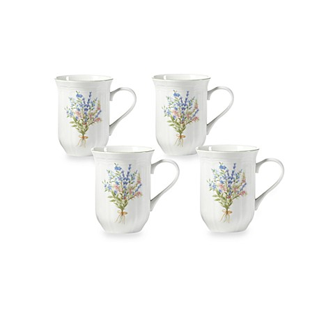 Mikasa® Botanical Bouquet 14-Ounce Mugs (Set of 4)