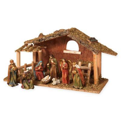 Gerson 9-Piece Resin Nativity Scene Set