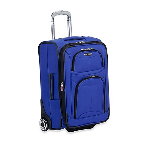 Delsey Fusion 3.0 21-Inch Carry-on Expandable Suiter Trolley in Blue