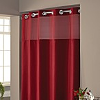 Hookless® Waffle 71-Inch x 74-Inch Fabric Shower Curtain and Liner Set in Red