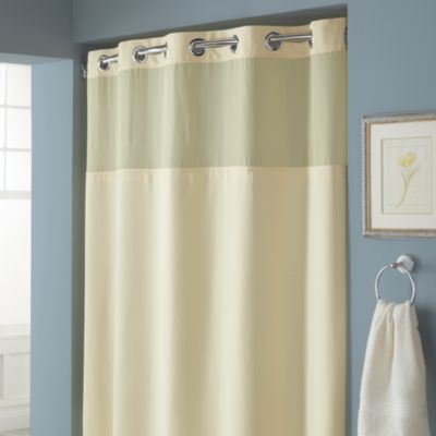 Hookless® Waffle 71-Inch x 74-Inch Fabric Shower Curtain and Liner Set in Yellow