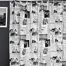 Passport 72-Inch x 72-Inch Fabric Shower Curtain