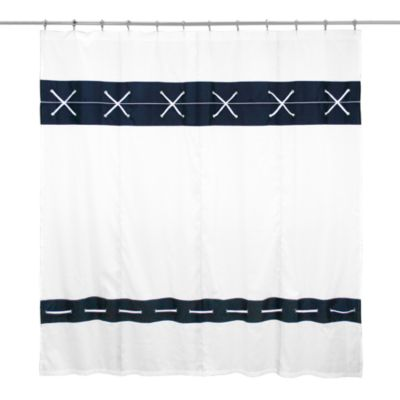 Criss Cross 72-Inch x 72-Inch Fabric Shower Curtain
