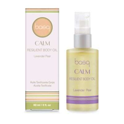 basq Calm Resilient Body Oil in Lavender Pear