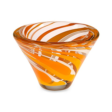Rockswirl by Abby Modell 7-Inch Cone Bowl in Orange