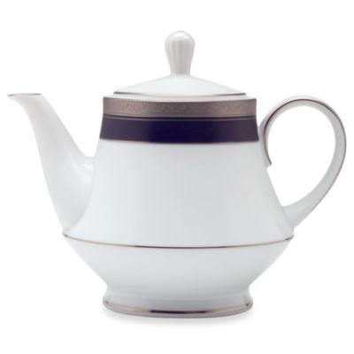 Noritake® Crestwood Cobalt Platinum 38-Ounce Teapot