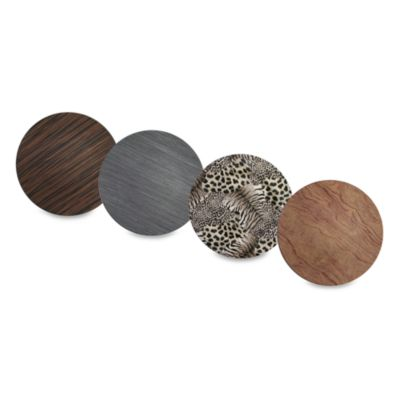 Charge It! by Jay 13-Inch Faux Wood Charger Plates (Set of 4)