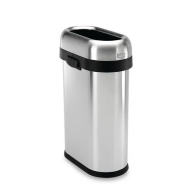Slim Stainless Trash Cans