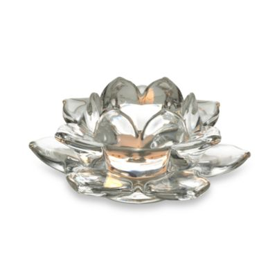 Mikasa® Clear Flower Shape Tealight Holder