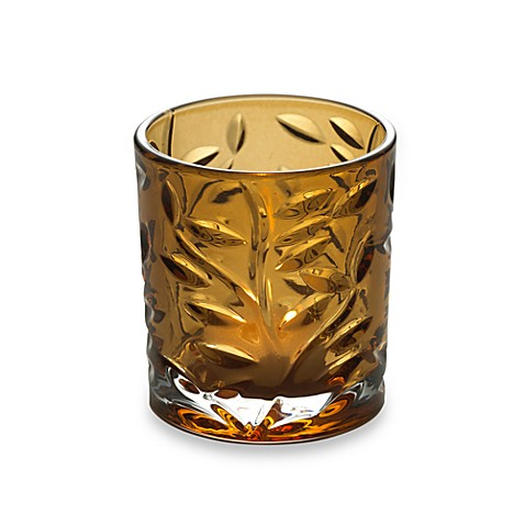 Mikasa® Amber Leaf Embossed Tealight Holder