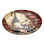 Certified International Wine Cellar by Tres Sorelle 16-Inch x 11.75-Inch Oval Platter