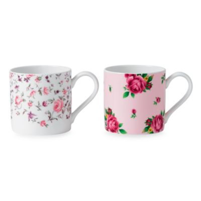 Royal Albert Mugs in Rose Confetti & New Country Rose (Set of 2)