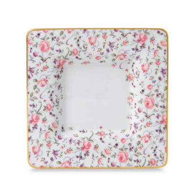 Royal Albert Rose Confetti Formal Vintage 6 1/2-Inch Square Trinket Tray