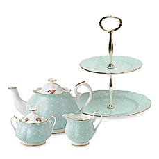 Royal Albert Polka Rose Tea Set & Serveware