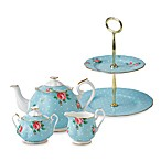 Royal Albert Polka Blue Tea Set & Serveware