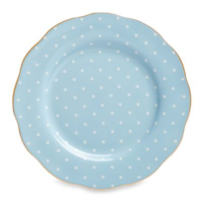 Royal Albert 8 1/3-Inch Formal Vintage Salad Plate in Polka Blue