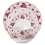 Royal Albert 5-Piece Formal Vintage Place Setting in New Country Roses Pink