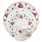 Royal Albert 5-Piece Formal Vintage Place Setting in New Country Roses White