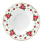 Royal Albert 9 2/5-Inch Formal Vintage Rimmed Soup/Salad Bowl in New Country Roses White