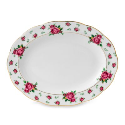 Royal Albert 13-Inch Formal Vintage Oval Platter in New Country Roses White