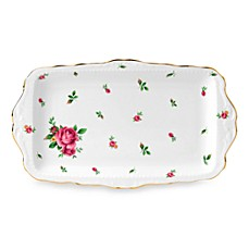 Royal Albert 11-Inch L Formal Vintage Sandwich Tray in New Country Roses White