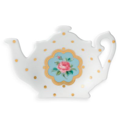 Royal Albert New Country Roses White Tea Tip/Tea Bag Rest in New Country Roses White
