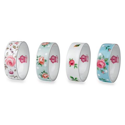 Royal Albert Napkin Rings in New Country Roses (Set of 4)