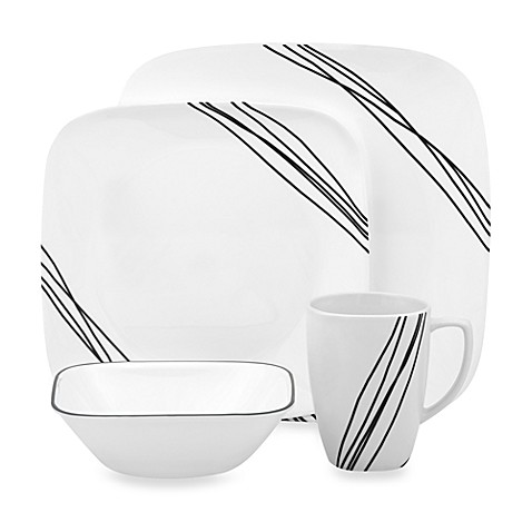 Corelle Simple Sketch 16 Piece Dinnerware Set Bed Bath Beyond
