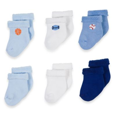 Gerber® Boys Terry Socks (Set of 6)