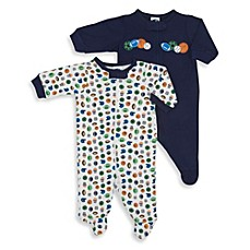 Gerber® 2-Pack All Sports Sleep 'n Play Footies in Navy/White