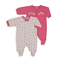 Gerber® 2-Pack Cupcake Sleep 'n Play Footies in Pink/White