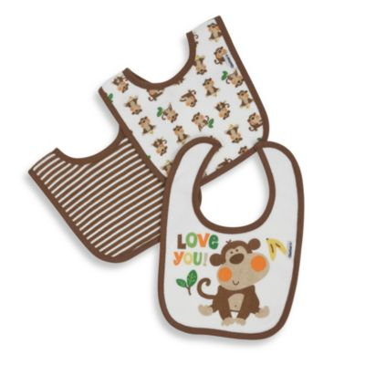 Gerber® Terry Dribbler Bibs in Blue (Set of 3)