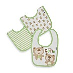 Gerber® Terry Dribbler Bibs in Sage (Set of 3)