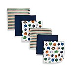 Gerber®; Washcloths in Boy (Set of 6)