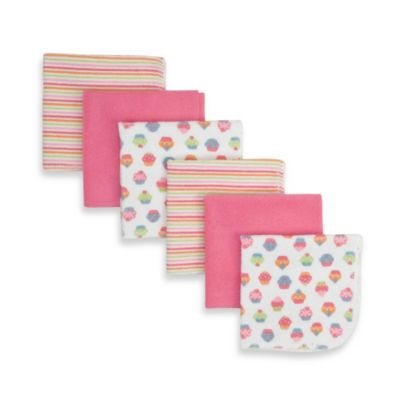 Gerber® Washcloths in Girl (Set of 6)