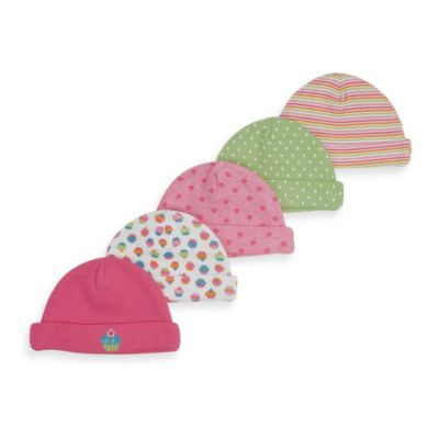 Gerber® Caps in Pink (Set of 5)