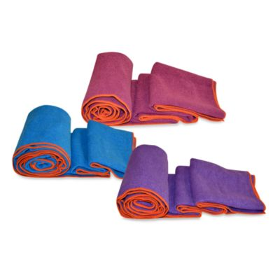 Equanimity Yoga Towel in Magneta