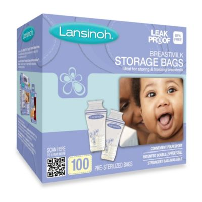 Lansinoh® 100-Count Breastmilk Storage Bags