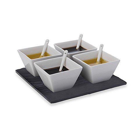 Maxwell & Williams™ White Basics Slate 9-Piece Square Dipping Set