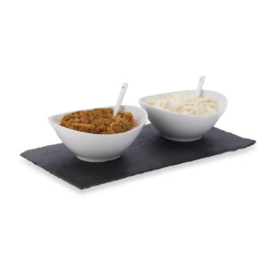 Maxwell & Williams™ White Basics Slate 5-Piece Rectangular Dipping Set