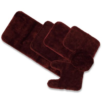 Wamsutta® Duet 2-Foot x 5-Foot Bath Rug in Cranberry