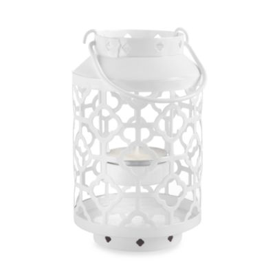 Kate Aspen® Skylights White Openwork Mini Lantern