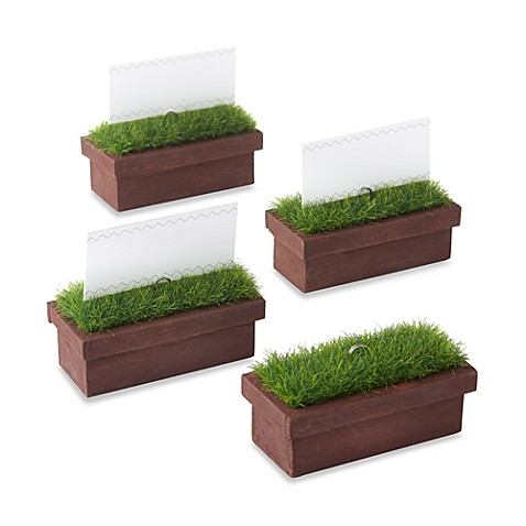 Kate Aspen® Evergreen Window Planter Place Card and Photo Holder (Set of 4)
