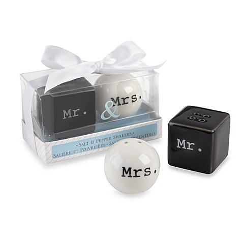 Kate Aspen® Mr. and Mrs. Salt and Pepper Shakers