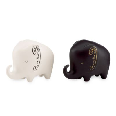 Black White Salt and Pepper Set