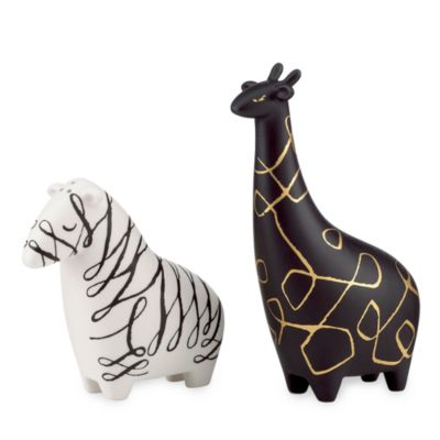 kate spade new york Woodland Park Zebra & Giraffe Salt & Pepper Set