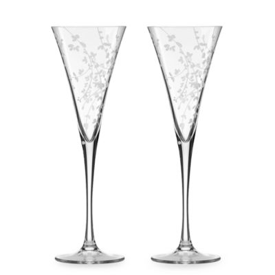 kate spade new york Gardner Street 8-Ounce Flutes (Set of 2)