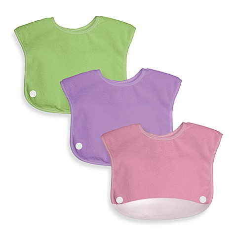 green sprouts® by i play.® Waterproof Terry Snap n Scoop Bib Set in Girls