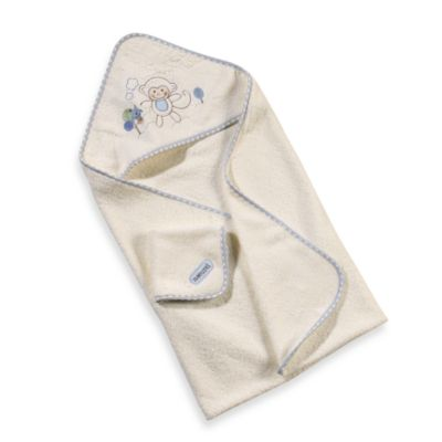 Just Born® Naturals Hooded Towel and Washcloth Set in Monkey