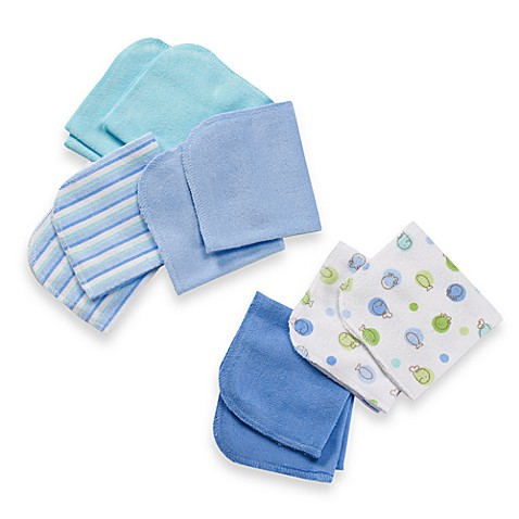 Just Born® 10-Pack Washcloth Set in Blue